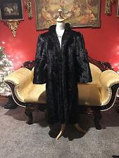 Designer Princess Lilli Ann Black Mink Long Fur Coat Jacket  Stroller Med / Lg