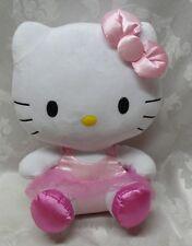 Sanrio Hello Kitty Dolls TY Pink Ballerina TuTu Dress Plush Stuffed Animals EUC
