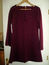 Ladies E-vie Size 12 Purple Flared Cuff Dress