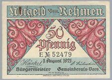 Notgeld - Gemeinde Rehmen - 50 Pfennig - 1921 - Serie E - Motiv:  Familienbad