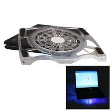 "USB 15"" Inch Laptop PC One Big Fan Blue LED Light Cooling Cooler Stand Pad"