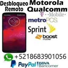 REMOTE UNLOCK SERVICE MOTOROLA G7 PLAY, E5 PLUS, Z4, G6 FORGE, REVLYR,Z2 FORCE