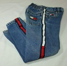 Vtg Tommy Hilfiger Jeans Boys Sz 5 Colorblock Flag Denim Kids 90's