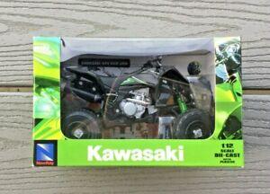 NEW-RAY 1/12 KAWASAKI BLACK KFX 450R 2009 ATV DIE CAST W/ PLASTIC PARTS 01360 FS