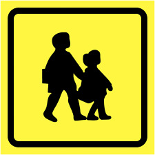 "SAFETY SIGN- ""SCHOOL BUS WARNING"" - (300x300MM) SIZE - RIGID PLASTIC SIGN"
