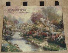 "Thomas Kinkade LAMPLIGHT BRIDGE Tapestry Wall Hanging 34"" x 30"""