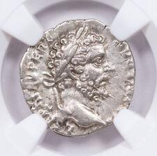 AD 193-211 Roman Empire Sept Severus AR Denarius Colosseum Hoard NGC XF SKU56745