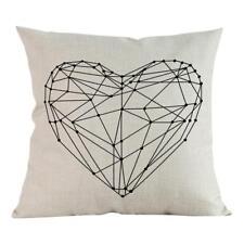 Floral Linen Square Throw Pillow Case Sofa Waist Cushion Cover Home Car Decor 9