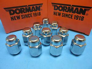 Set 10 Wheel Lug Nuts Replace GMC OEM# 6110841 CHROME M12-1.50