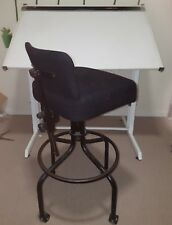 drafting desk and chair, good condition. Tilting top good for drafting and art