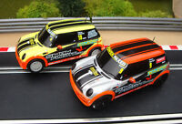 PAIR MINT COMPLETE UNBOXED SCALEXTRIC MINI CARS  -LOADS MORE CARS FOR SALE