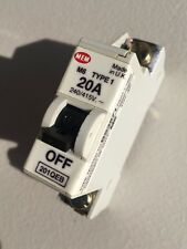 MEM 20A Type 1 Single Pole M6 20 Amp Circuit Breaker SP MCB ~ Memera 21 ~ 201QEB