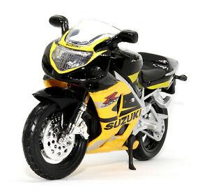 Maisto 1:18 Suzuki GSXR 600 Toy model Motorcycle motorbike Black Yellow