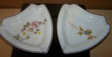 2 Leart Porcelain Ashtrays Brazil 4 1/4""