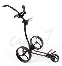 Design Golf Trolley CADDYONE 110 Schwarz, nur knapp 6kg