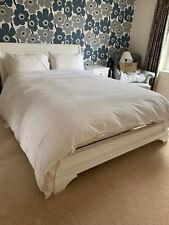 JOHN LEWIS Double Kingsize White Wooden Sleigh Bed & Mattress