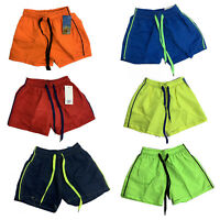 Boys Swim Shorts Plain Mesh Lining Swimming Summer Beach Trunks