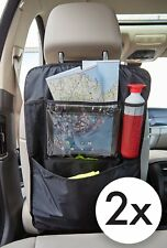 2 Pack Car Back Seat Organisers With Multi Pockets Touch Tablet & Drink Holder