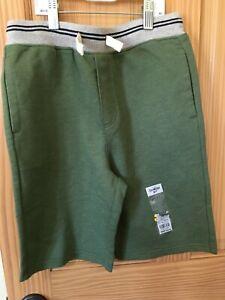 New Oshkosh Boy Pull-On Shorts Green 10-12,14