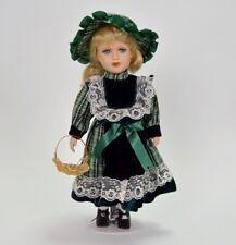 Alte Porzellan Puppe in Tracht Dirndl blond Frau Figur 38 cm Bayern wie Neu