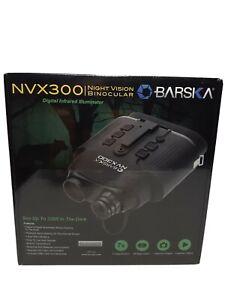 BARSKA Night Vision Nvx300 Infrared Illuminator Digital Binoculars, Black.