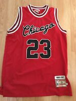 ee715f5c00a2 Mitchell And Ness Chicago Bulls Michael Jordan Jersey 48 XL 1991-92  hardwood red