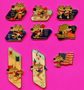 1984 SARAJEVO OLYMPIC PIN LOT #2 PICK A PIN 1-2-3 OR ALL LOT OF 9 PINS BADGE