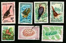 French New Caledonia Birds Seashell Postally Used Stamps