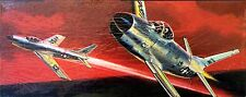 AURORA Kit No.77, NORTH AMERICAN F-86 SABREJET ,1/48, - 100% COMPLETE, 1960