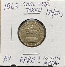 1863 Civil War Token First in War First in Peace 176/271j Rare Metal R7 (3067)