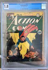 Action Comics #42 (1941) CGC 1.8 -- 1st & origin Vigilante; Lex Luthor app.