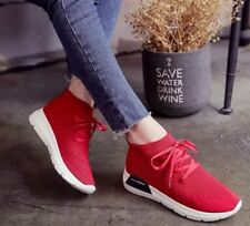 Tanggo Vinnie Fashion Sneakers Women's High Cut Rubber Shoes (Red) SIZE 36