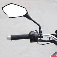 2pcs Universal Black Motorcycle Motorbike Rearview Rear View Side Mirror 10mm Ne