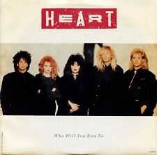 "HEART ""Who Will You Run To"" (45 RPM) 7"" Vinyl Record w/ Picture Sleeve MINT"