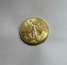 1821-1947 MEXICO GOLD 50 PESOS LIBERTY  UNC / MS / BU LUSTER  KM #481