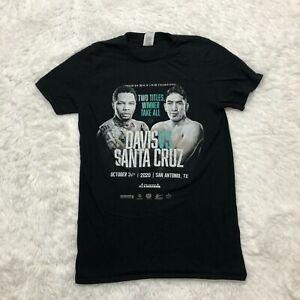 Gervonta Davis Vs Santa Cruz Fight T Shirt Adult Size Small Black Official
