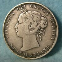 1874 Newfoundland Canada Silver 50 Cents KM# 6 Better Grade Canadian Coin #4443