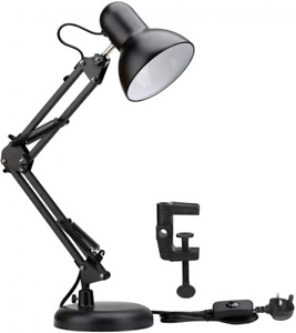 Lepro LED Desk Lamp, Clamp on Swing Arm Table E27 Bulb Holder,...
