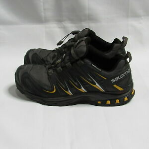Salomon XA Pro 3D Chassis Black Gray Yellow Hiking Shoes Men's Size 11