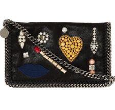 0160fe1ff2 STELLA MCCARTNEY Falabella Embellished Black Crossbody Bag RRP £950