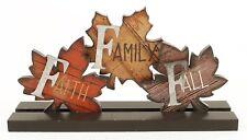 Blossom Bucket Faith Family Fall Leaves on Base