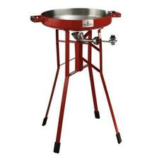 Firedisc Cooker Portable Grill Propane Cooking Outdoor Steel 1 Burner Stand Red