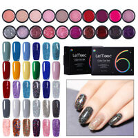 LEMOOC 6Pcs 5ml Nagel Gellack Soak Off UV Gel Nagellack Nail Art UV Gel Polish