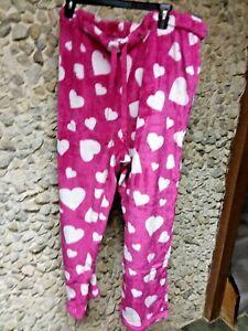 Faded Glory woman's sleepwear pants pink w/hearts size 3 X only $11.99
