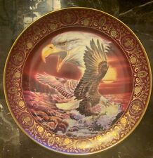 """Royal Doulton Freedoms Foundation Shores Of Freedom Eagle Collector 8"""" Plate"""