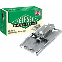 Self Set Metal Classic Style Mouse Trap Pest Rodent Bait Snare Control UK Made