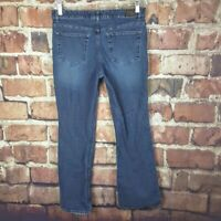 Mossimo Womens Boot Cut Jeans Size 14 Stretch 30 Inseam Distressed