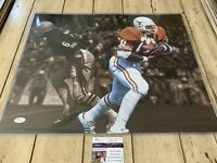 Earl Campbell Autographed/Signed 16x20 Photo JSA COA Texas Longhorns