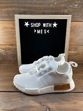Adidas Originals NMD R1 Boost White Running Womens Shoes FV1788-NEW