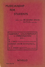Musicianship for Students (Primer No.120) Harmony, Counterpoint and Imporovisa..
